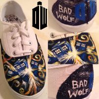 Doctor Who Tennis Shoes by HungryxHungryxHippos
