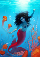 Commission: Me as mermaid 2 by SoniaMatas