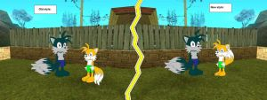 Tails barefoot: Old vs new. by YRT9401