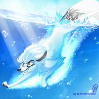 Jump into the water by MittensTheNoble