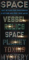Space - Text Styles by ivelt