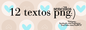 Pack 6 - Textos png by YuiWTF