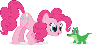 Pinkie Pie and Gummy by arcticjuniper
