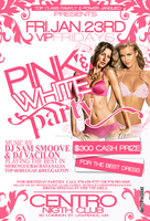 PINK AND WHITE PARTY FLYER by DeityDesignz
