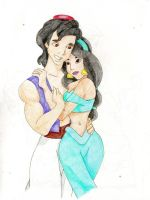 Aladdin and Jasmine by Kelly-ART