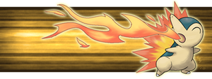 Cyndaquil Banner by PokeChibiArtist98
