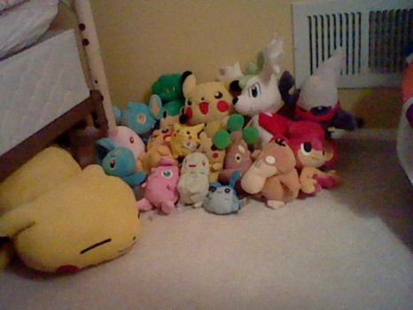 My Pokemon plush and Poke doll collection by Link-Pikachu