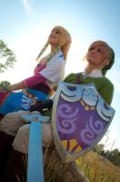 Link and Zelda by Rinachur