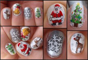 christmas nails by JawsOfKita-LoveHim