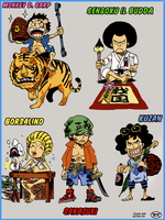 One Piece - Baby Marines Colorize by NickTesta