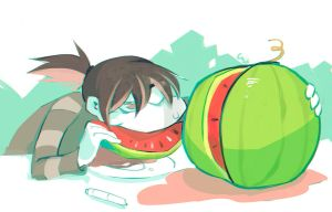Watermelon by Gobi-the-dog