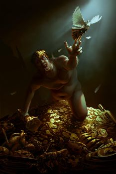 The Hunger of King Midas by EranFolio