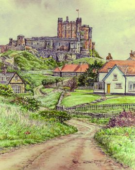 Bamburgh, Northumberland, from the North by jeffsmith1955