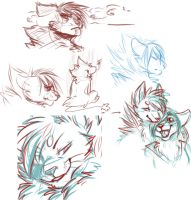 Sketchdump Headshots by LuxuryCat