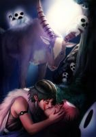 Princess Mononoke and Prince Ashitaka by patrickdeza