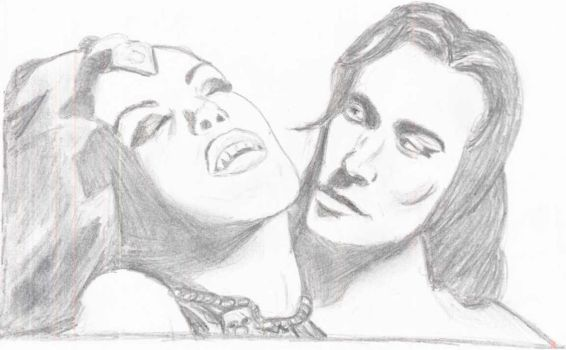 Akasha and Lestat by lybby