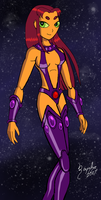 Teen Titans - Starfire - Color by UltimeciaFFB