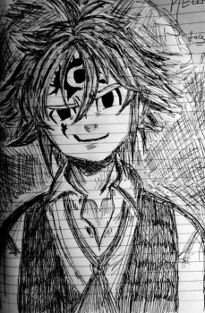 meliodas ( my first attempt ) by Rvuap