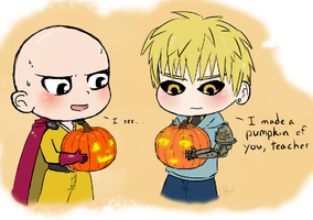 OPM - pumpkin face? by TropicalSnowflake