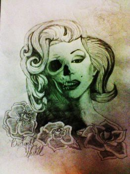 Death and beauty. finished. by WolfHalee
