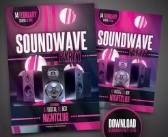 Soundwave Party Flyer by digital-box