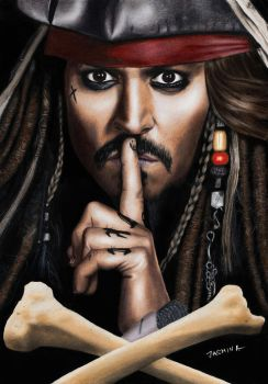 Drawing Johhny Depp as Captain Jack Sparrow by JasminaSusak