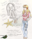 My Characters - Leggy-chan 4 - 2007 by KatherineRosePeacock