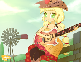 Country Applejack by Riouku