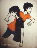 Nico di Angelo and Percy Jackson by AliceLiddell1000