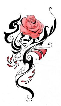 Rose Tattoo commission by Chaos-Flower
