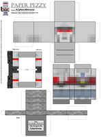 Paper Pezzy- Megatron 'Minecraft' by CyberDrone