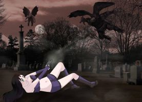 Darkie vs Gargoyles by Lilannnn