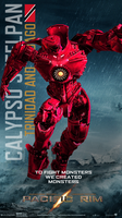 Pacific Rim Jaeger Poster (Calypso Steelpan) by Neville6000