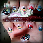 Angry Manicure - All birds by Drieth