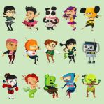 Characters by pyrotensive