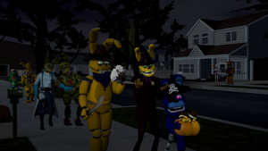 (SFM/Special)Trick or Treating with friends by Fazband83