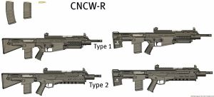 Weapons: CNCW-R by purpledragon104