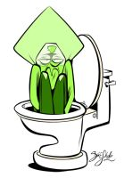Peridot in the Toilet by Themrock