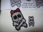 3d Beaded girly skulls by screaminmimi79