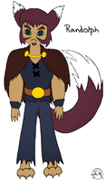 Adventure Time OC- Randolph the Werewolf by Midniteoil-Burning