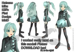 Kei's First Miku Design MMD DL by BacteriaNeko