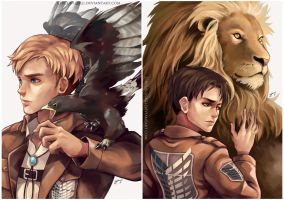 SnK - animal instinct by circus-usagi
