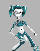 XJ-9 colored by DRKRT
