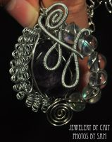 Tumbled Amethyst Pendant by tanyquil