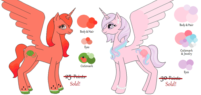 MLP Alicorn Adopts #2 - CLOSED by LittleMissFurfect