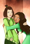 Katara and Suki! by MadnessInMeadow