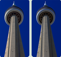 553m CN Tower Toronto 3D :: Cross-Eye Stereoscopy by zour