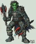 orc death knight color by rusel1989