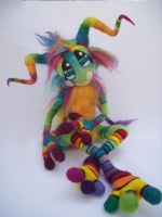 Magic Rainbow Pinwheel Goblin- by Tanglewood-Thicket
