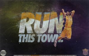 Kobe Bryant Run This Town Wallpaper by Angelmaker666